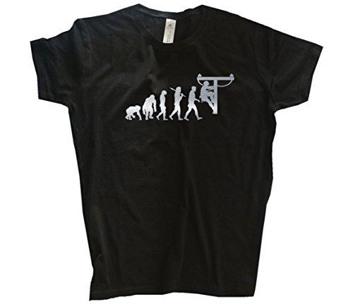 Silber Edition Hochspannung Starkstrom Elektriker Techniker Evolution Girlie-Shirt Schwarz L