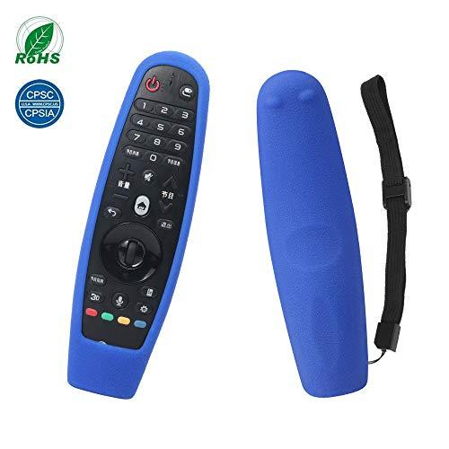 Lg an-mr650 remote case custodia cover lg 4k uhd 3d smart magic remote caso sikai custodia in silicone flessibile per telecomando lg an-mr600 antiscivolo cover di protezione con cordino ( blu)