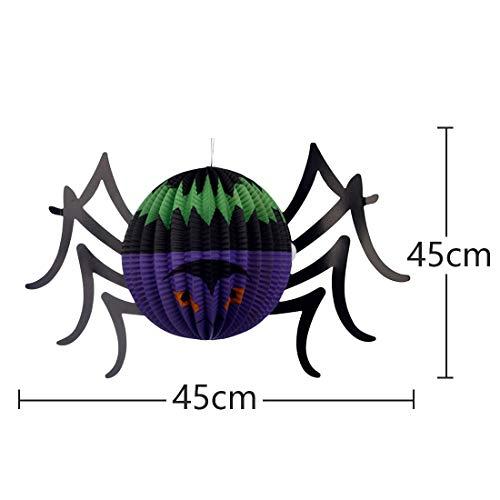 Zorux - Halloween Gruselige Requisiten Skelett Handschuhe Knochen Hexe Nails Hut Terror Tier Laternen blutig Make-up Halloween Dekoration Butterfly Lantern