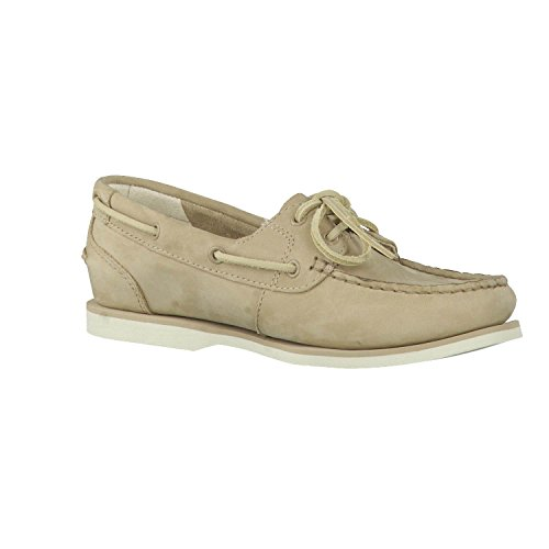 Timberland Womens Classic Boat Unlined A14E1 Shoes Off White UK5 5 Off White