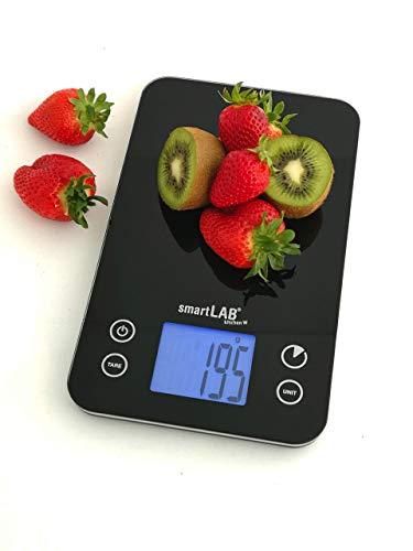 smartLAB kitchen W | Bilancia da Cucina Digitale Bluetooth | Pesa Alimenti e Cibo | Nera