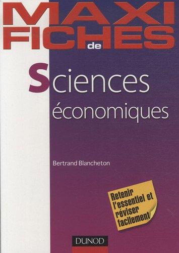 Sciences économiques par Bertrand Blancheton