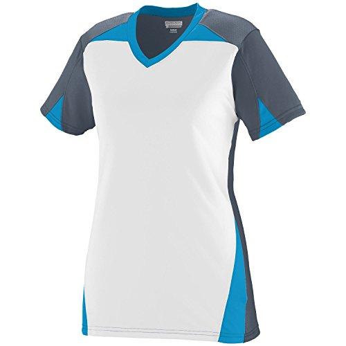 Augusta - T-shirt de sport - Femme Multicolore - Graphite/White/Power Blue