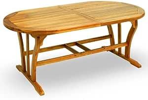 Tavolo Da Giardino In Legno Allungabile Da Cm 120 A Cm 160 Amazon It Casa E Cucina