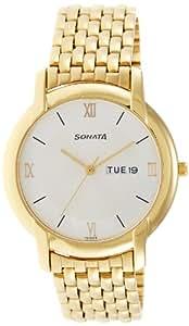 Sonata Analog White Dial Men's Watch -NK7954YM01