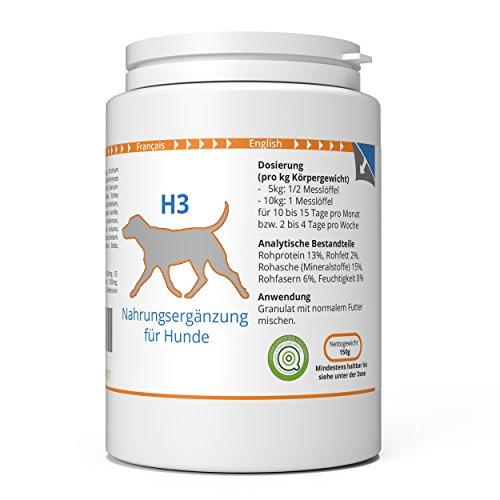 ww7 H3 | Haut & Fell Formel für Hunde | 150g Natürliches Premium Granulat
