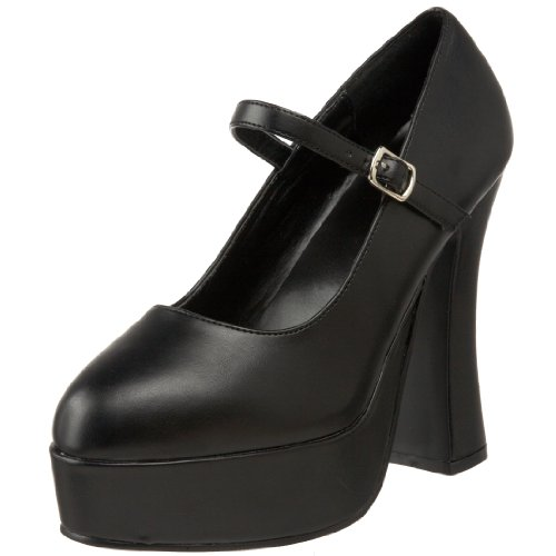 Demonia DOLLY-50, Damen Plateau Pumps, Schwarz (Schwarz (Blk Vegan Leather)), 36 EU (3 Damen UK) -
