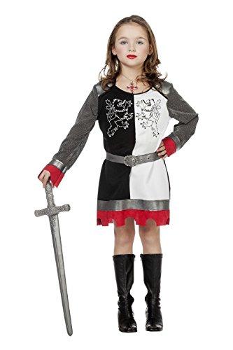 Jannes - Ritter Kostüm Mädchen, Schwarz Weiß -