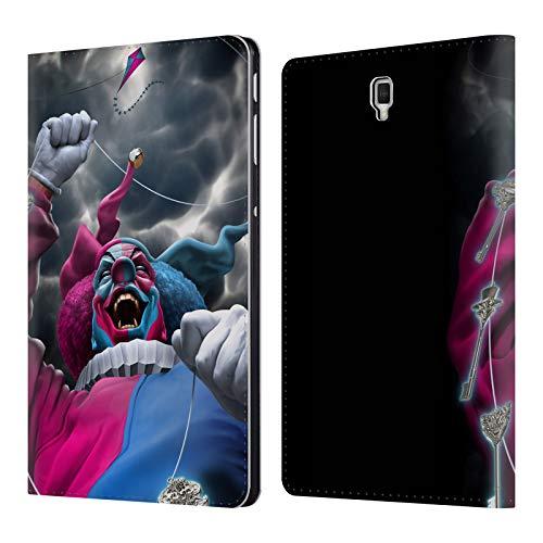 Head Case Designs Offizielle Tom Wood Verfuehrerisches Schicksal Clown Leder Brieftaschen Huelle kompatibel mit Samsung Galaxy Tab S4 10.5 (2018) -