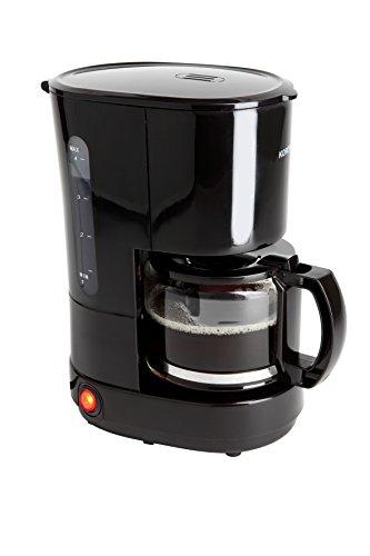 Korona 12013 Edelstahl Kaffeemaschine in Schwarz - Filter Kaffeeautomat für 4 Tassen Kaffee mit...