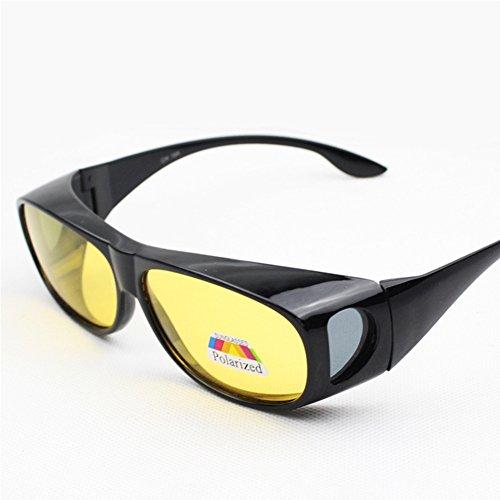 Zantec Unisex HD Linsen Polarisierte Sonnenbrille Tragen über Brillen Nachtsicht Anti sand Blend Gläser UV Schutz
