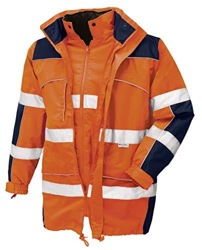 teXXor Warnschutz-Parka Toronto wasserdichte, winddichte Arbeitsjacke, M, orange, 4109 -