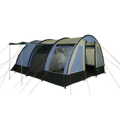 10T Lexington 6 - 6-Personen Tunnel-Zelt mit Panoramafenster Vorraum + teilbare Innenkabine WS=3000mm