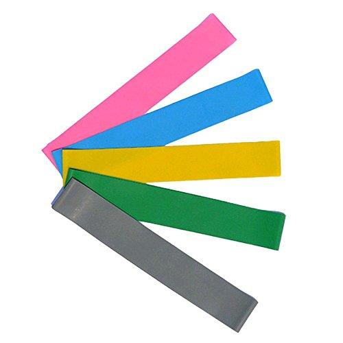 ☺HWTOP Loop Widerstandsband Yoga Pilates Startseite Gymnastikband Fitness Trainingsband für Pilates (Zufällige Farbe, 50CM*5CM*1.0㎜)