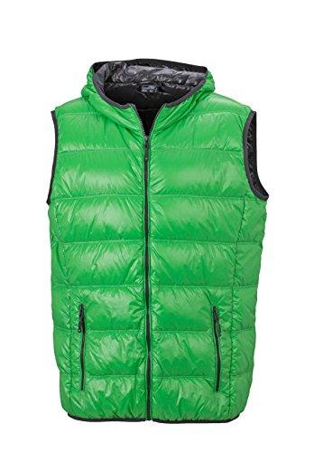 Herren Daunenweste ultraleicht sportlich Winterweste Sport Weste green/carbon