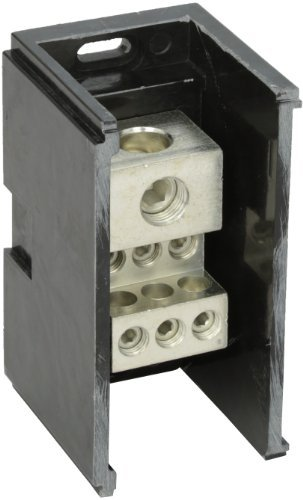 Power Distribution and Terminal Block, Connector Blok - Single Primary - Multiple Secondary, 350MCM-6 AWG Line and 2/0-14 AWG Load Side Configuration, 2.90 Width, 3.25 Height, 5.50 Length by NSI Nsi Power Distribution Blocks