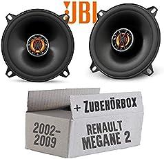 Renault Megane 2 - Lautsprecher Boxen JBL Club 5020 | 2-Wege | 13cm Koax Auto Einbausatz - Einbauset