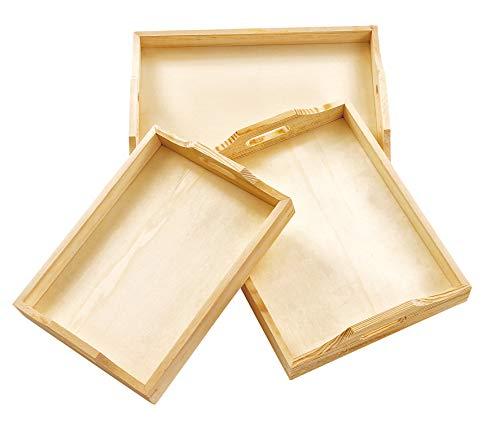 Tablett, Holztablett, 3er-Set, verschiedene Größen, von VBS -