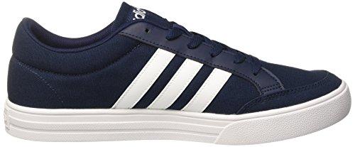 adidas Vs Set, Sneaker a Collo Basso Uomo Blu (Collegiate Navy/Ftwr White/Ftwr White)