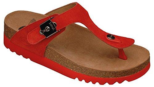 Scholl taglia 39 rosso Bioprint Boa Vista Hop-Pantofole da donna