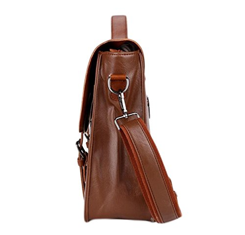 Borsa Uomo Documenti Portatili Business Bag In Pelle Moda Casual Da Uomo Brown