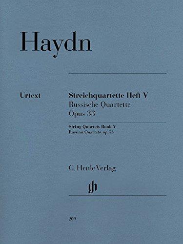 Quatuor Cordes Vol.5 Opus 33 --- Matériel