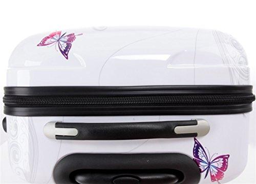 41LDZa7K 7L - Maleta de viaje 2060,rígida, en 12 motivos, XL, L, M Butterfly extra-large