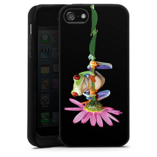 Apple iPhone X Silikon Hülle Case Schutzhülle Frosch Blume Frog Tough Case matt