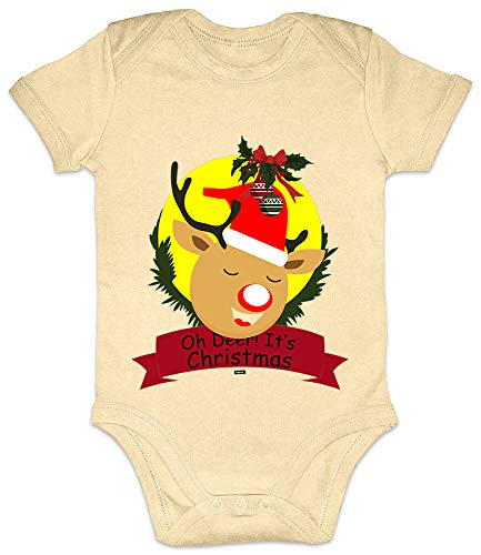 HARIZ Baby Body Kurzarm Oh Deer Its Christmas -