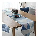 JUNYZZQ Nordic Geometrische Tischfahne Wasserdicht Doppeldecker Couchtisch Tv-Schrank Runde Tischdecke Kunst Tischdecke Bett Flagge Handtuch, 32X200 cm