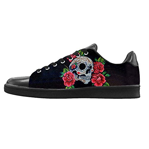 Dalliy Red Rose And Skull Men's Canvas shoes Schuhe Lace-up High-top Sneakers Segeltuchschuhe Leinwand-Schuh-Turnschuhe A