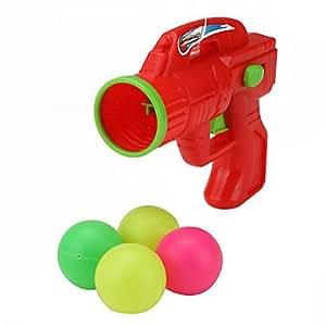 plastique balle de ping pong pistolet (rouge)