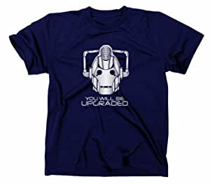 #1 Cybermen You Will Be Upgraded T-Shirt, doctor who, tardis, cyberman, S, navy