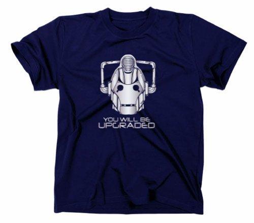 # 1Cybermen You Will Be Upgraded Maglietta, Doctor Who, Tardis, Cyberman, blu navy, M