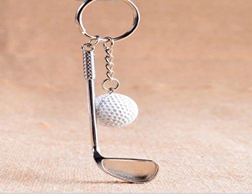 LL-Golf® Golf Schlüsselanhänger mit Golfschläger und Golfball/Golfgeschenk/Geschenk/Schlüssel Anhänger
