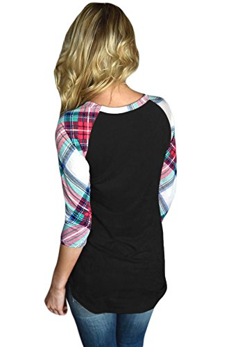 shelovesclothing -  Maglia a manica lunga  - Donna Black / Multicolour