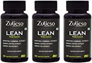 Zulicso Lean Vegetarian Capsules with Natural Garcinia Cambogia, Green Coffee and Green Tea Extract - 270 Veg