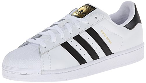 adidas Originals Herren Superstar Low-Top, Weiß (Ftwr White/Core Black/Ftwr White), 50 EU - Original Schuhe Männer Adidas