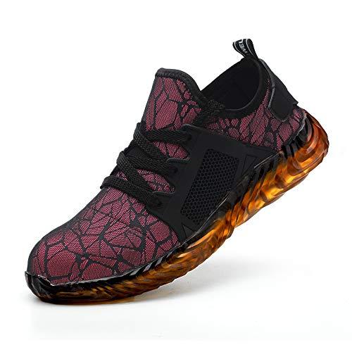 Scarpe Antinfortunistica Antiscivolo con Punta in Acciaio, Sneaker da Lavoro Cantiere per Uomo Donna, Antinfortunistiche di Sicurezza Leggere