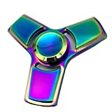 Toy - Hand Spinner Stress Relief Toy, Colourful Aluminum Alloy Hand Spinner EDC Fidget Toy Stress Reducer Made Bearing Focus Anxiety Relief Toys for Killing Time