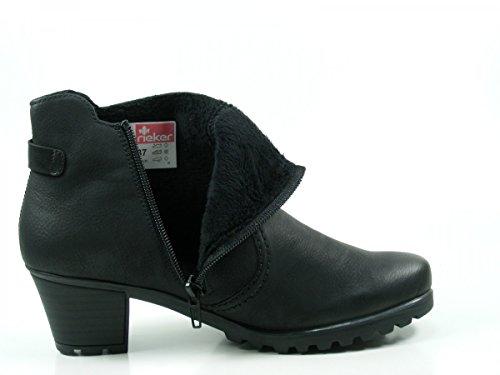 Rieker Damen Boot Y8089-00 nero Schwarz