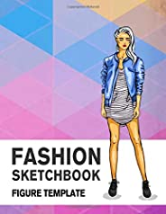 Fashion Sketchbook Figure Template: 430 Large Female Figure Template for Easily Sketching Your Fashion Design