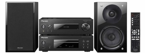 Pioneer P1-K Sistema Pure Compact HiFi, CD, FM, Riproduzione iPod, iPhone, USB, Nero