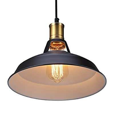 S&G Vintage Metal Pendant Light, Retro Antique Style Lampshades fit for Edison Bulb