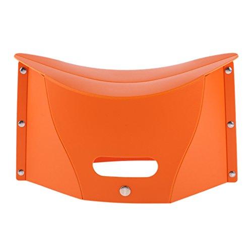 Baoblaze Ultraleicht Klappstuhl Faltbar Stuhl für BBQ, Camping, Angeln - Orange