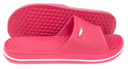 Pantofole Da Spiaggia Aqua-speed® Con Cordoba Taglia 30-44 (ciabatte Da Bagno Piscina Piscina Mare + Adesivo Up®) Colore 03 / Rosa - Bianco
