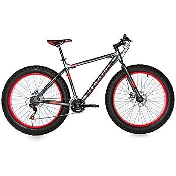 MOMA Bikes Fat Bike 26x 4.0alluminio SHIMANO 21V Bicicletta, Unisex adulto, Grigio, sì