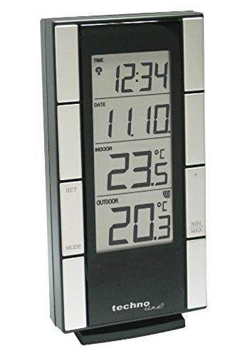 Technoline WS 9765 Estación de Temperatura, Plata y Negro, 8.30x3.10x16.00 cm