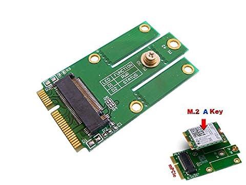 KALEA-INFORMATIQUE © - Adaptateur M.2 (NGFF) vers MiniPCIe (mPCIe) - Pour carte WIFI ou Bluetooth - Compatible Intel 7260NGW