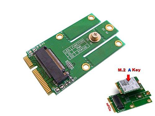 KALEA-INFORMATIQUE M.2 (M2 NGFF) WiFi Bluetooth 4.0 card to mini PCIe (mPCIe USB) Adapter für Intel 7260NGW -
